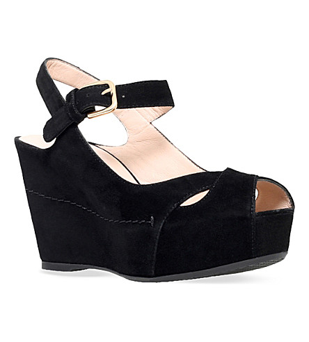 STUART WEITZMAN Turnover platform sandals (Black