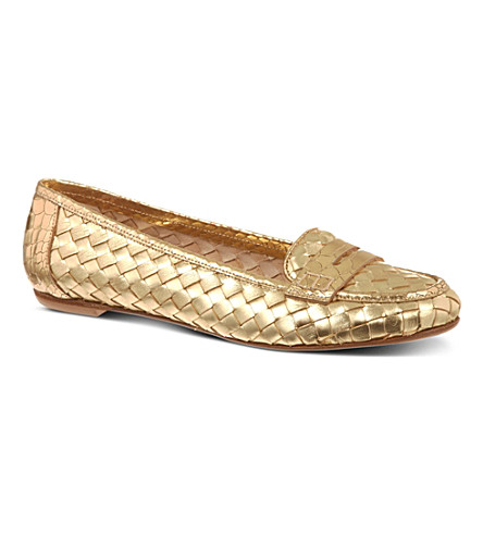 KURT GEIGER LONDON Poppy woven pumps (Gold