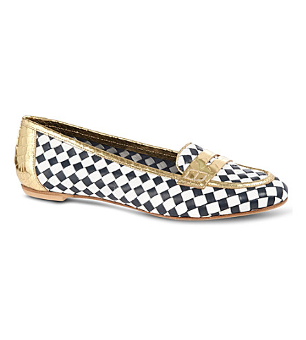 KURT GEIGER Poppy checkered pumps (Navy