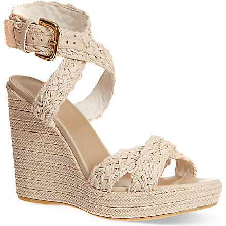 STUART WEITZMAN Hoopla wedge sandals (Cream