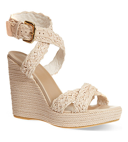 OLIVER SPENCER Hoopla wedge sandals (Cream