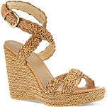 STUART WEITZMAN Hoopla woven platform wedge sandals