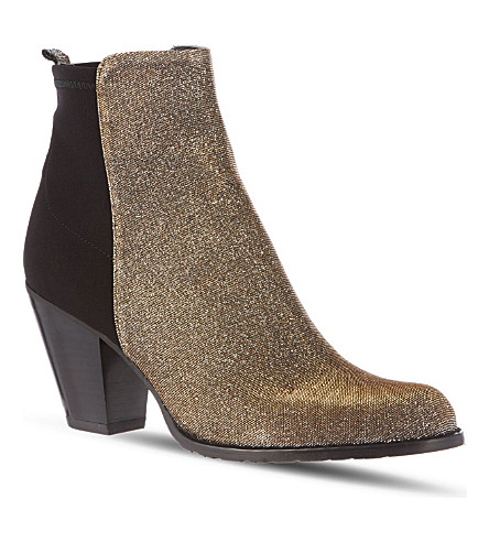 STUART WEITZMAN Otherhalf glitter ankle boots (Black/comb
