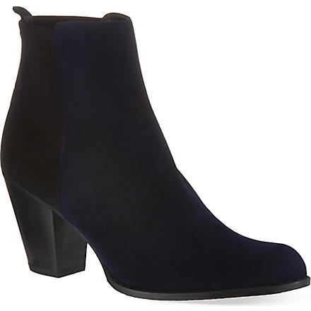 STUART WEITZMAN Otherhalf suede ankle boots (Blue