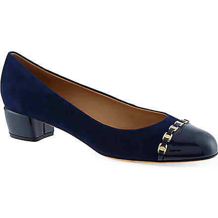 FERRAGAMO Pim 30 court shoes (Navy
