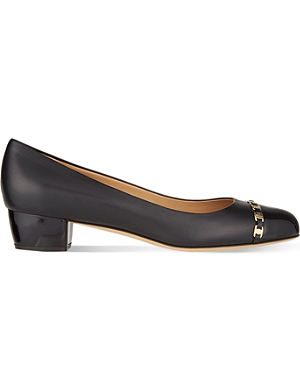 FERRAGAMO Pim 30 leather courts