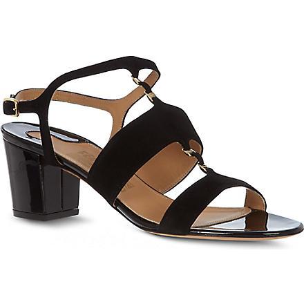 FERRAGAMO Petronilla suede sandals (Black