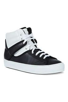 FERRAGAMO Pixy leather high-tops