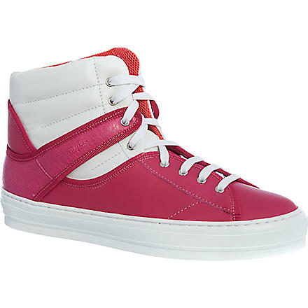 FERRAGAMO Pixy high-top trainers (Fushia