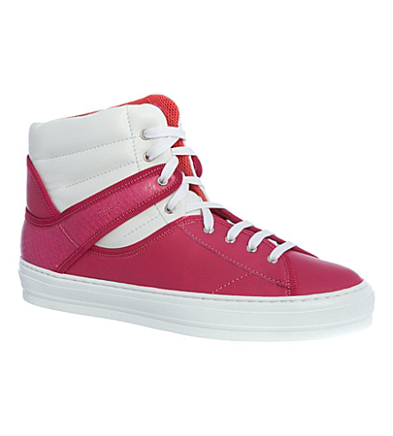 B STORE Pixy high-top trainers (Fushia
