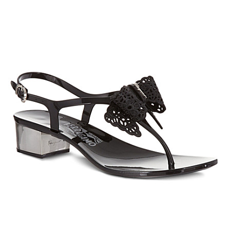 FERRAGAMO Perala heeled sandals (Black