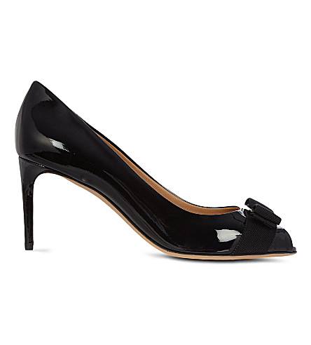 B STORE Pola patent leather courts (Black