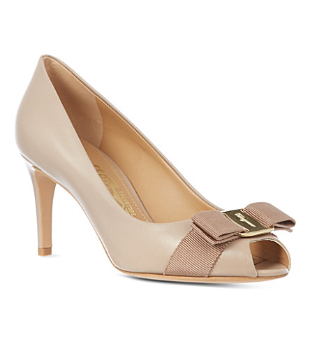 B STORE Pola leather court shoes (Taupe