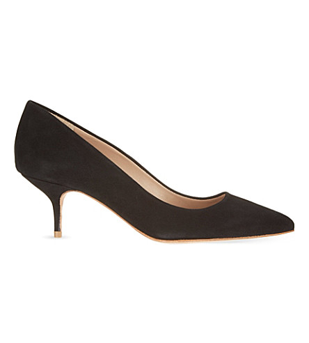 KURT GEIGER LONDON Tiarella suede courts (Black
