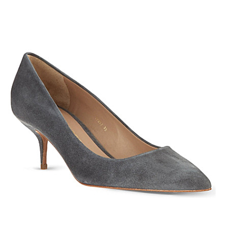 KURT GEIGER LONDON Tiarella suede courts (Grey