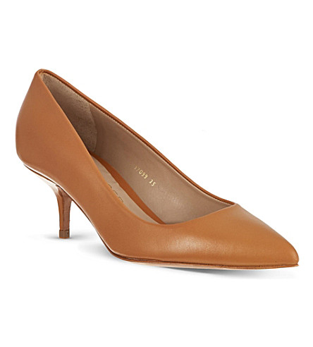 KURT GEIGER Tiarella leather courts (Tan
