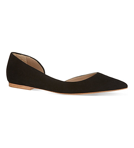 KURT GEIGER LONDON Primrose suede flats (Black