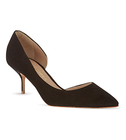 KURT GEIGER LONDON Tilia suede courts (Black