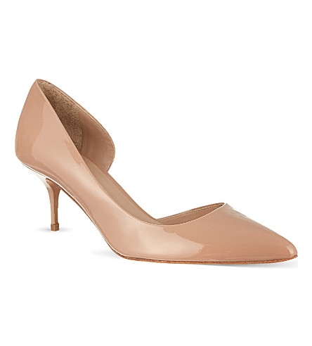 KURT GEIGER LONDON Tilia patent leather courts (Nude