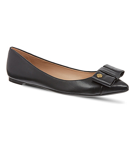 TORY BURCH Aimee leather pumps (Black
