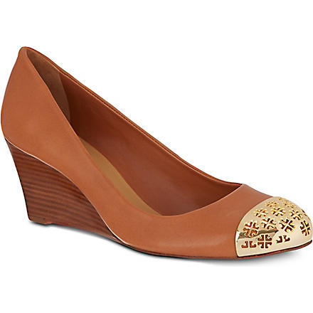 TORY BURCH Cami wedges (Tan