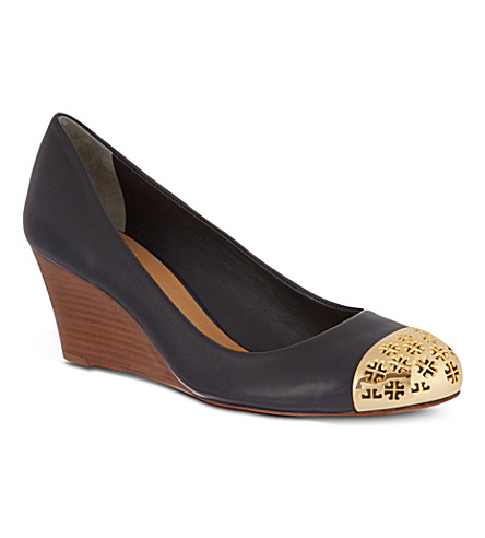 TORY BURCH Cami wedges (Navy