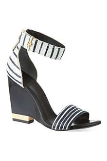 TORY BURCH Carolyn snakeprint wedge sandals
