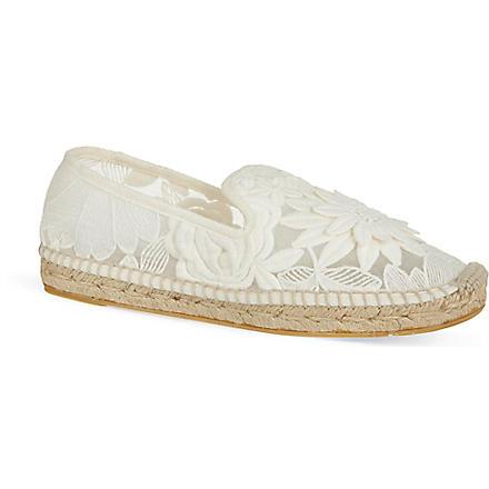 TORY BURCH Darien lace espadrilles (Bone