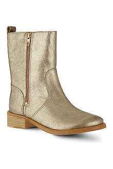 TORY BURCH Halle metallic ankle boots