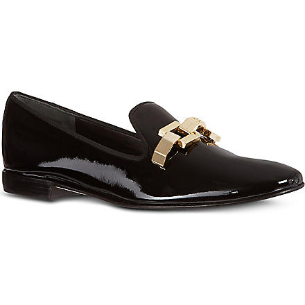 TORY BURCH Isaac patent leather loafers (Black
