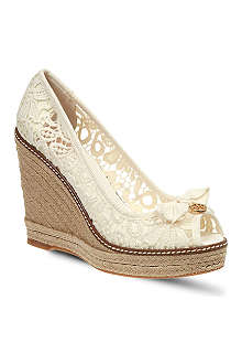 TORY BURCH Jackie lace wedges