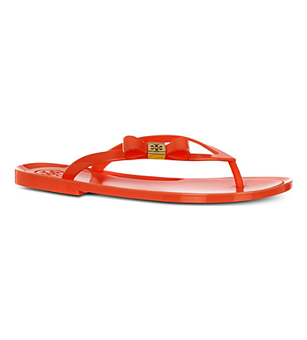 OLIVER SPENCER Michaela bow flip flops (Orange