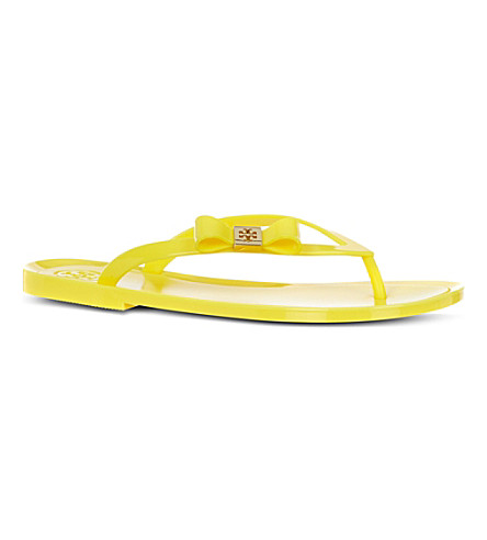 TORY BURCH Michaela bow flip flops (Yellow