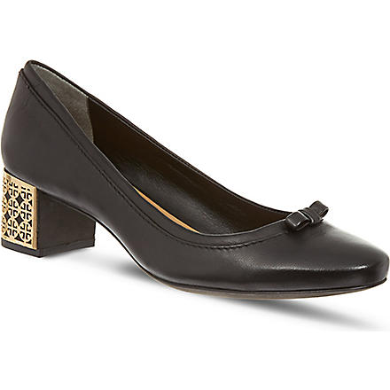 TORY BURCH Bea leather court shoes (Black