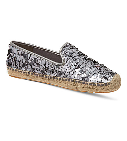 TORY BURCH Mischa espadrilles (Pewter