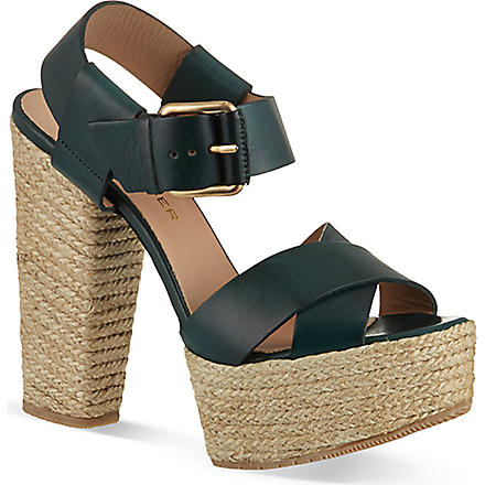 KURT GEIGER Willow sandals (Green