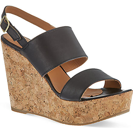 KURT GEIGER Gardenia wedge sandals (Black