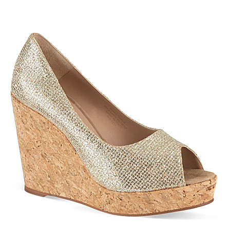 KURT GEIGER Capella wedges (Peach