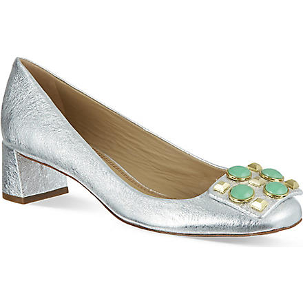 TORY BURCH Vanna silver court shoes (Silver