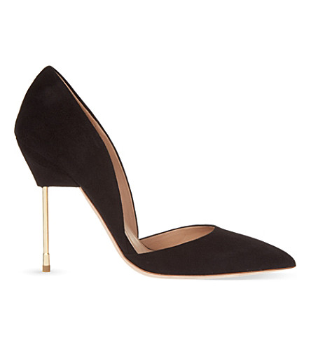 KURT GEIGER LONDON Bond suede stilettos (Black