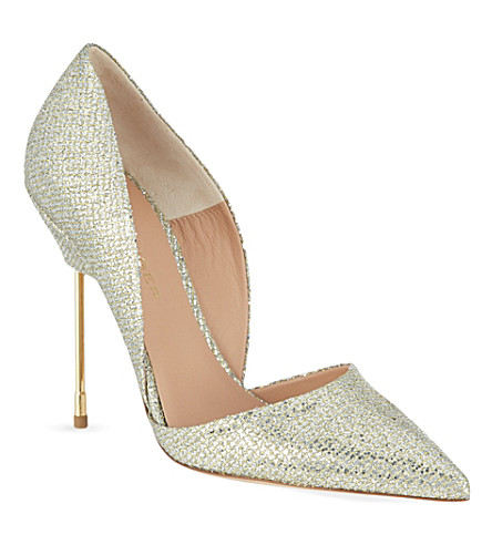 KURT GEIGER LONDON Glittering Bond stilettos (Champagne
