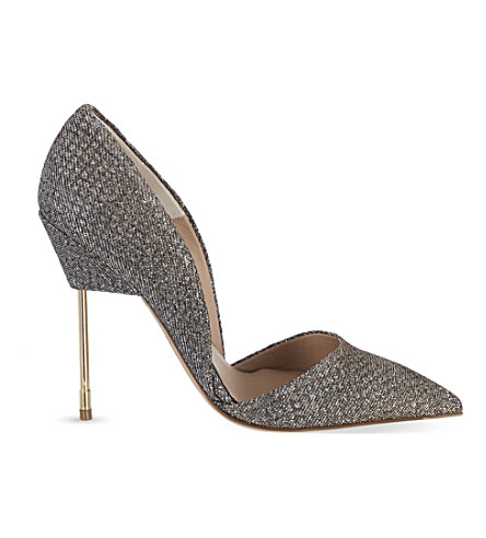 KURT GEIGER LONDON Bond glitter courts (Metal+comb