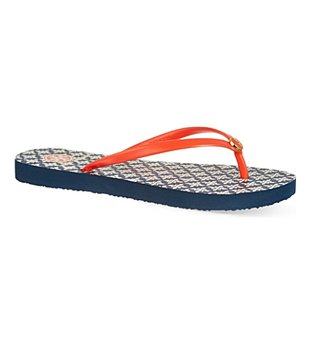 TORY BURCH Printed flip flops (Red/other