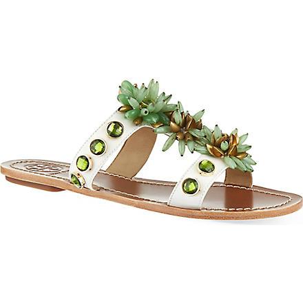 TORY BURCH Sydney flat sandals (Cream