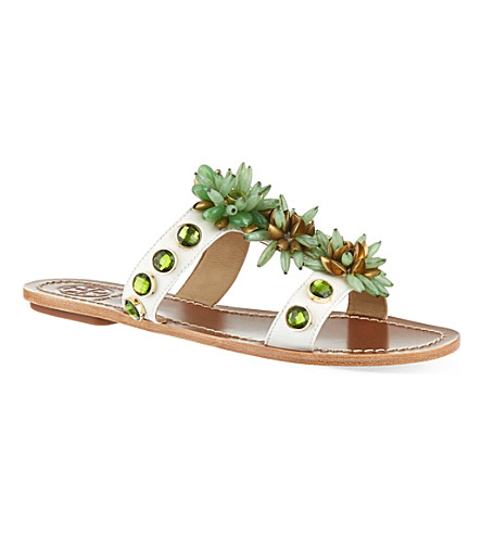 TORY BURCH Sydney flat sandals (Cream