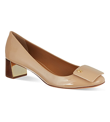TORY BURCH Yardley patent court shoes (Nude