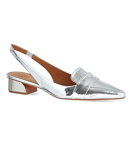 TORY BURCH Sadie slingback sandals (Silver