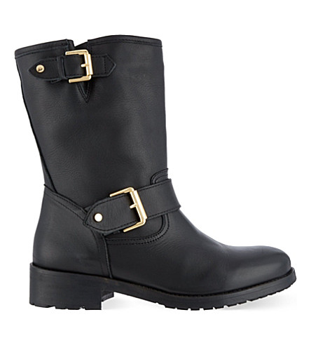KURT GEIGER LONDON Raymond biker boots (Black
