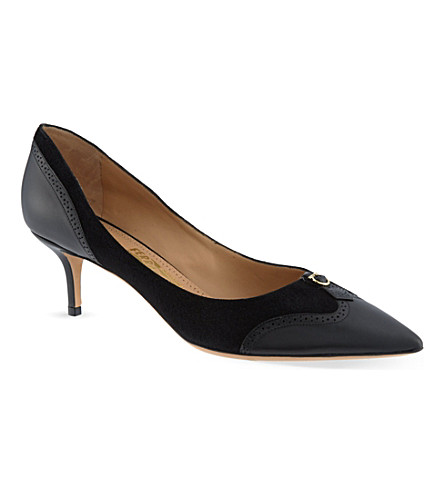 SALVATORE FERRAGAMO Neissa court shoes (Black