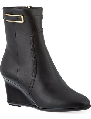 FERRAGAMO Navy ankle boots